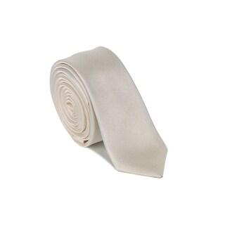 "Dolce & Gabbana Men Light Champagne Silk Diagonal Texture 1.5"" Blade Tie"