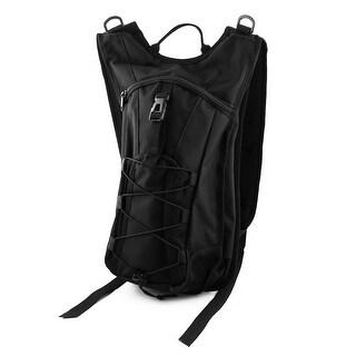 Climbing Hiking Camping Running Cycling Backpack Hydration Bladder Pack Black