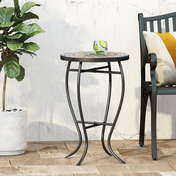 La Crescenta Outdoor Side Table with Tile Top by Christopher Knight Home. Opens flyout.
