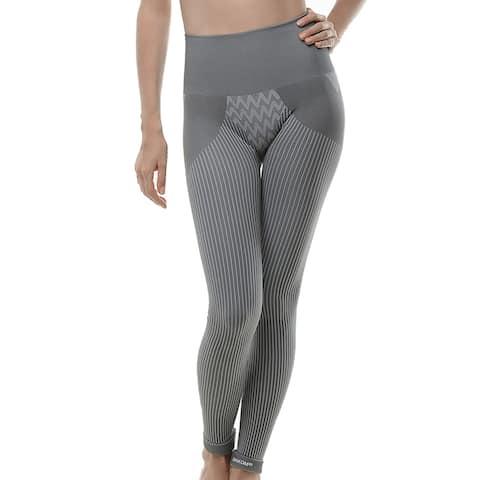 SANKOM-Grey Slimming Posture Leggings with Bamboo Fibers