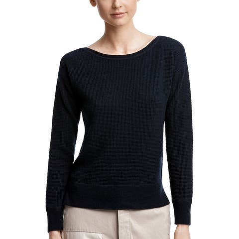 James Perse Thermal Boat Neck Cashmere Top