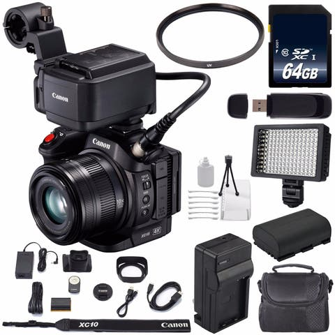 Canon XC15 4K Professional Camcorder #1456C002 (International Model) + 64GB SDXC Class 10 Memory Card Bundle