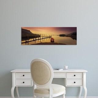 Easy Art Prints Panoramic Images's 'Derwent Lake Derbyshire UK' Premium Canvas Art
