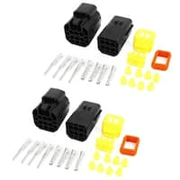 Cable Connector Plug 6 Pins Waterproof Electrical Car Motorcycle HID 2 Set
