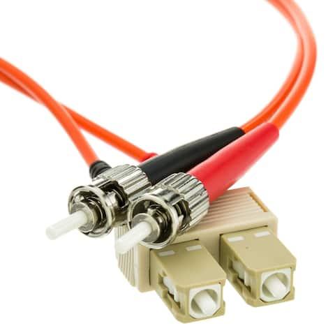 Offex Fiber Optic Cable, SC / ST, Multimode, Duplex, 62.5/125, 2 meter (6.6 foot)