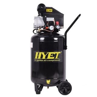 Costway 21 Gallon 125 PSI Vertical Air Compressor Cast Iron 2.5HP Motor Portable