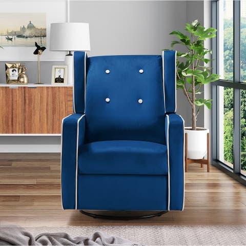 TiramisuBest relax lounge maunalswivel glider recliner velvet