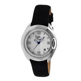 Sophie and Freda Belize Women's Quartz Watch, Genuine Leather Band, Luminous Hands