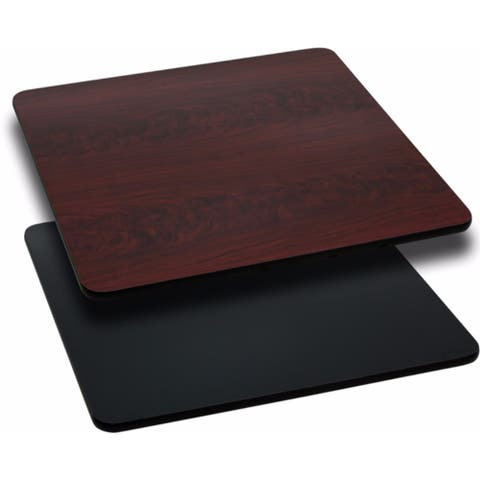 Offex 24'' Square Table Top with Black or Mahogany Reversible Laminate Top [OF-XU-MBT-2424-GG]