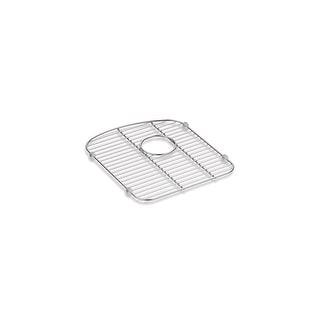 """Kohler K-5182  Langlade 13-1/2"""" x 15-3/8"""" Stainless Steel Left Basin Bottom Sink Rack - Stainless Steel"""