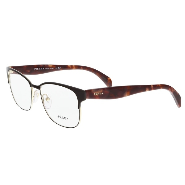 8359d750a37 Shop Prada PR 65RV UE01O1 55 Black Havana Rectangle Optical Frames ...