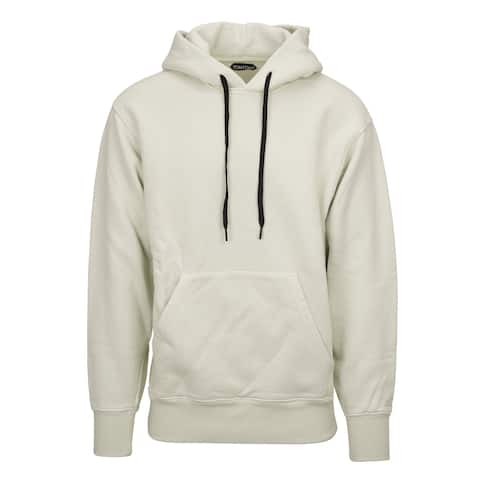Tom Ford Mens Ivory Cotton Blend Zip Up Regular Fit Hoodie Size M~RTL$1450 - M