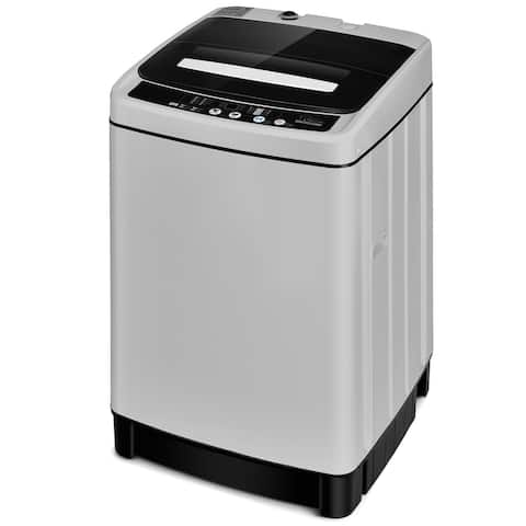 Costway Full-Automatic Washing Machine 1.5 Cu.Ft 11 LBS Washer & Dryer