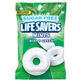 Lifesavers Sugar Free Wintergreen 12 packs (2.75 oz per pack)
