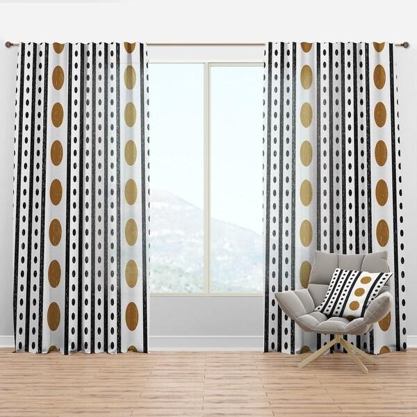 Designart 'Retro Geometrical Abstract Minimal Pattern VII' Mid-Century Modern Curtain Panel. Opens flyout.