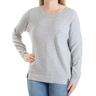 FRENCH CONNECTION $128 Womens New 1001 Gray Pocketed Long Sleeve Sweater S B+B