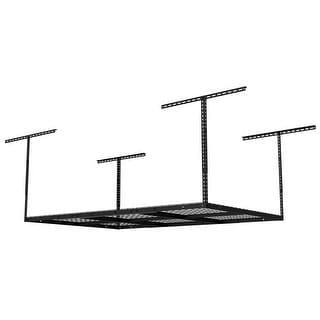 FLEXIMOUNTS Overhead Garage Rack Height adjustable Black 4'x6'