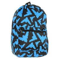 Nightwing Backpack DC Comics Character All Over Logo Print - One Size Fits most