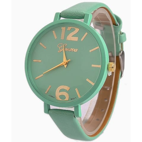 Mint Green Jumbo Dial Watch