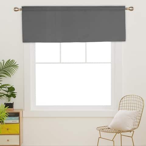 Deconovo Decorative Rod Pocket Curtain Valance(1 Panel)