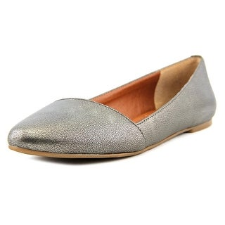 Lucky Brand Archh Women Round Toe Leather Gray Flats