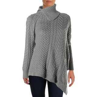 Vince Camuto Womens Glacier Dream Asymmetrical Cable Knit Pullover Sweater