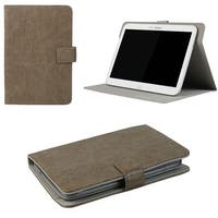 "JAVOedge Rugged Vintage Universal 7-8"" Book Case for the iPad Mini, Samsung Tab, Nexus 7, Nook HD (Brown)"