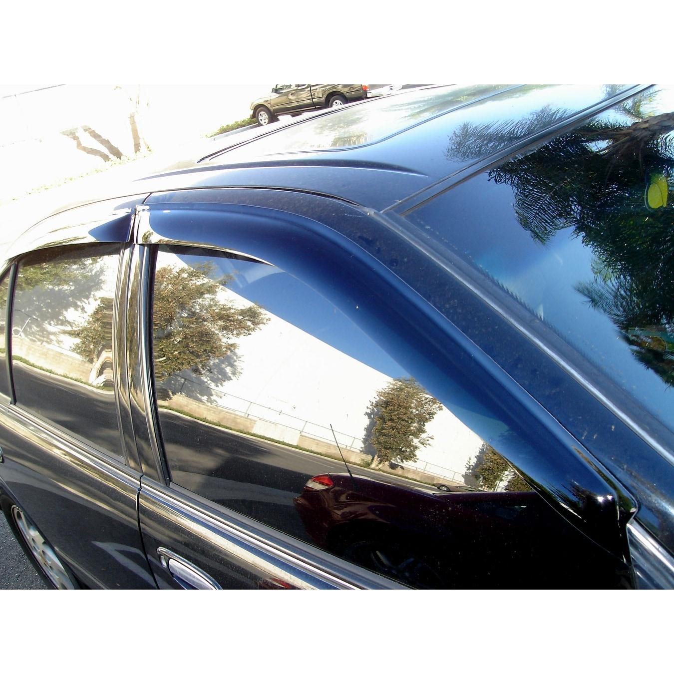Tuningpros Wv 484 2 Window Visor For 2004 2006 Nissan Sentra Outside Mount Deflector 4 Pcs Set Nissan Sentra 04 05 06 Overstock 15277473