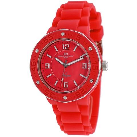 Oceanaut Women's Acqua Red Dial Watch - OC0225 - One Size