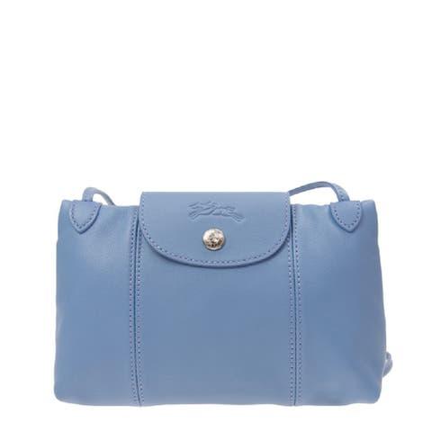 Longchamp Womens Crossbody Bag Light Blue