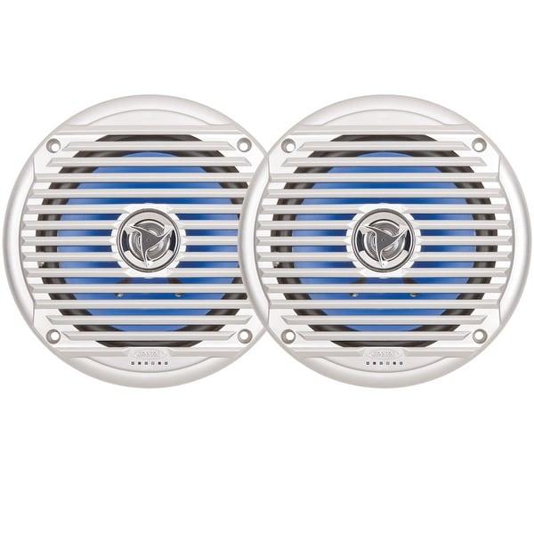 """JENSEN 6.5"""" Coaxial Waterproof Speaker - (Pair) Silver"""