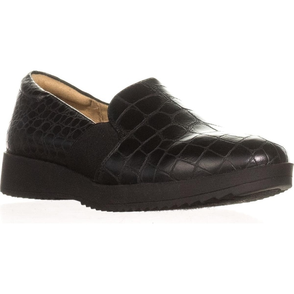 naturalizer Suma Platform Flat Loafers, Black Croco