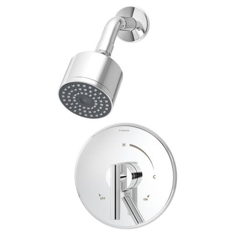Symmons S-3501-CYL-B Dia Shower Trim Package with Single Function Shower Head and Double Lever Handle -