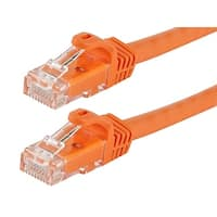 Flexboot Cat5e Ethernet Patch Cable RJ45 Stranded 350Mhz Wire 24AWG 0.5ft Orange