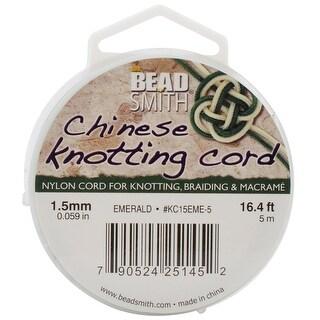 Chinese Knotting Cord 1.5mmX16.4'-Emerald - Green