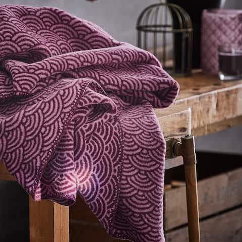 IBENA Purple Badran Jacquard Woven Throw Blanket