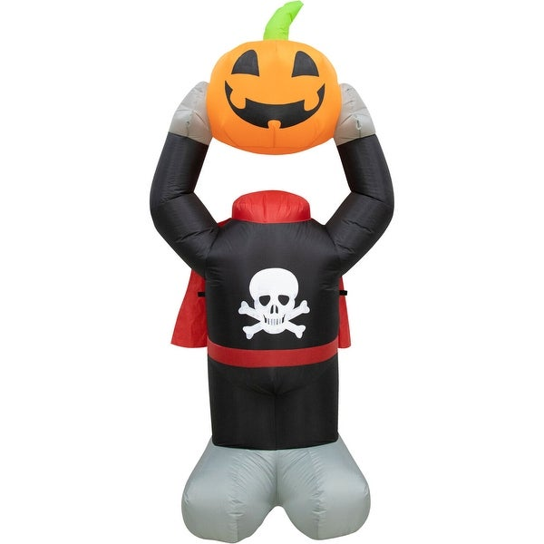 Haunted Hill Farm 6-ft. Headless Pumpkin Inflatable with Arm Motion and Lights - 6 ft.. Opens flyout.