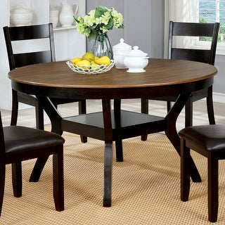 Link to Furniture of America Sine Transitional Brown 54-inch Dining Table Similar Items in Dining Room & Bar Furniture