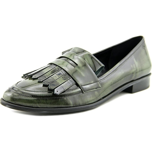 Lust for Life Magic Women Round Toe Leather Green Loafer