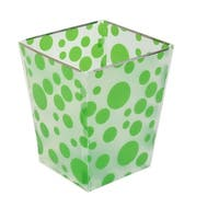 Unique Bargains Foldable Paper Waste Bin Bucket Garbage DIY Can Container Clear White Green