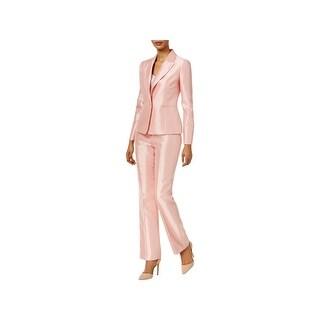 Le Suit Womens Pant Suit 2PC Flat Front - 6