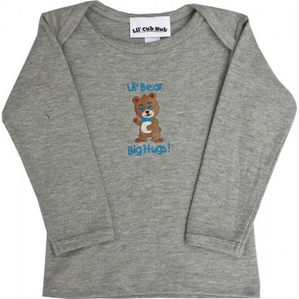 4CLSTBBG-1218 Grey Long Sleeve T-Shirt - Boy Bear, 12-18 months