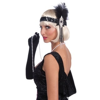 Forum Novelties Roarin 20s Flapper Headband - Black