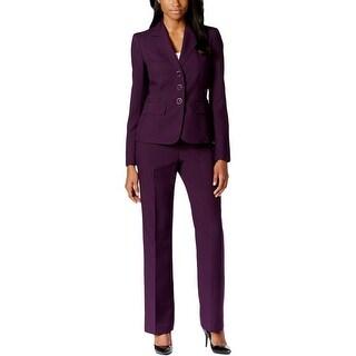 Le Suit Womens Petites Pant Suit 2PC Notch Lapel