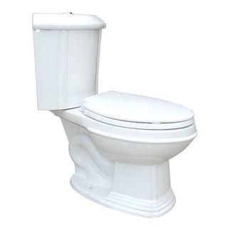 White Porcelain Elongated Space Saving Corner Toilet | Renovator's Supply