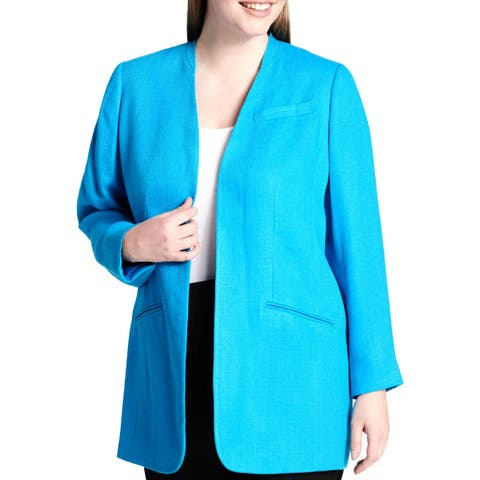82ce6b64b76 Calvin Klein Womens Plus Topper Jacket Open Front Wear To Work