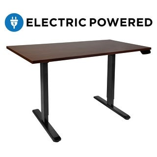 Mount-It! Electric Standing Height Adjustable Desk (LED Touch Display), Frame Only