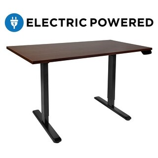 Mount-It! Electric Sit-Stand Height Adjustable Desk (LED Touch Display), Black  MI-7967