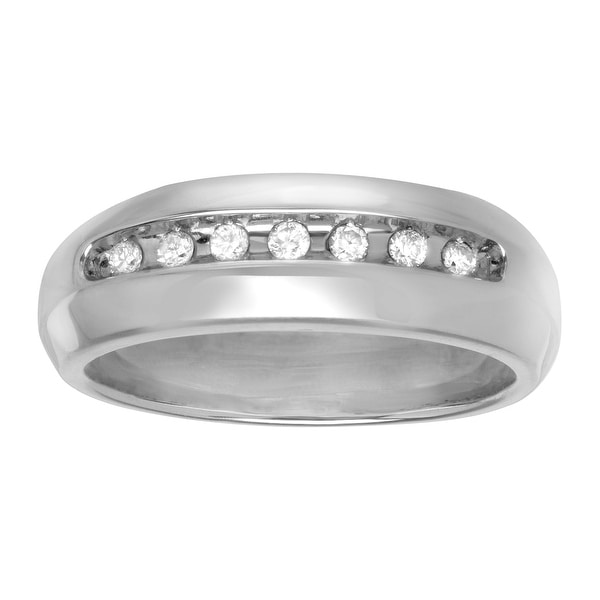 1/5 ct Diamond Men's Wedding Band in Sterling Silver