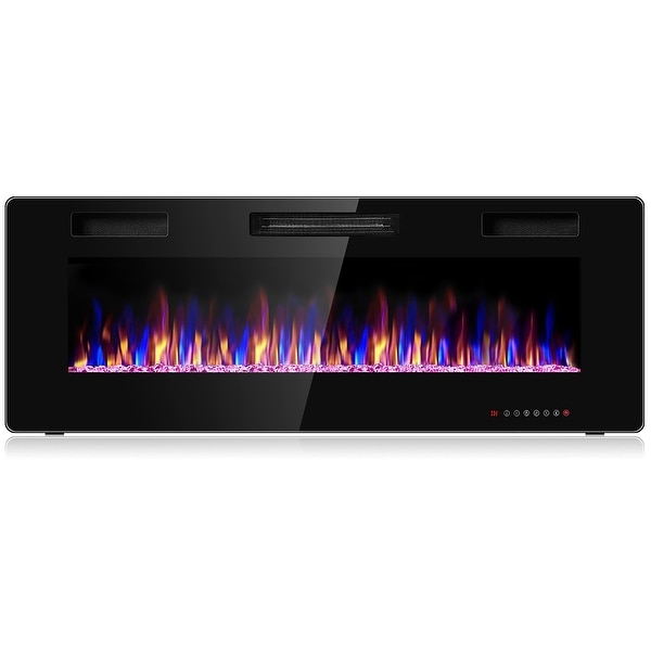 Costway Electric Fireplace Recessed Ultra Thin Wall Mounted Heater. Opens flyout.